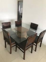 Mesa de jantar da Sierra com 6 cadeiras