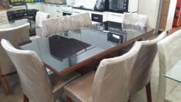 Mesa com 6 cadeiras 100%mdf nova embalada!