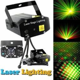 Mini Laser Projetor holográfico Com Efeitos Bivolt Tripé Grátis