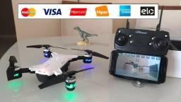 Drone Selfie Dobrável -Câmera Wifi HD 720P. NOVO - Ângulo amplo de 120º. Parcelo no cartão