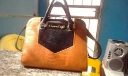 Vendo bolsa feminina, Couro Café