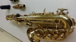 Sax soprano curvo Waldan novo