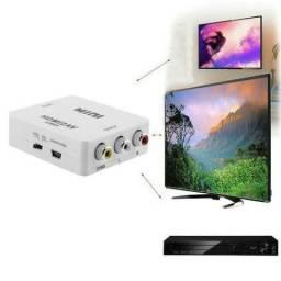 Adaptador Conversor Hdmi Para Video Composto 3 rca/Av Áudio e Vídeo