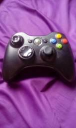 Controle Xbox 360 e fonte