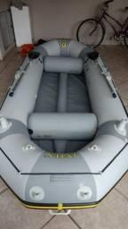 Vendo bote inflável intex mariner 4 com motor mercury 3.3hp - 2008