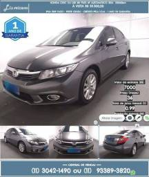 Honda Civic 2.0 Lxr 16v Flex 4p Aromático 2014 35300 55000Km cinza - 2014