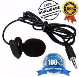 Microfone de lapela ( grátis adaptador p3)