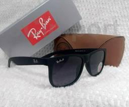 b9b4c7983affd Óculos RB Justin Anti reflexo com acabamento preto fosco lentes Polarizadas  Carnaval 2019