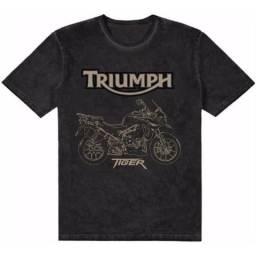 Camiseta Street Bike Triumph Tiger Preta 2018