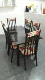 Mesa nova de 6 e 4 cadeiras direto de fábrica
