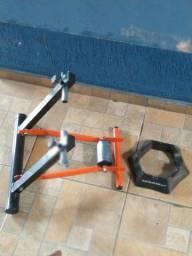 Rolo treino bicicleta com suporte pra roda dianteira