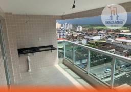 Apartamento com 3 dormitórios à venda, 108 m² por R$ 419.000,00 - Caiçara - Praia Grande/S