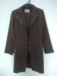 Conjunto calca flare com casaco P