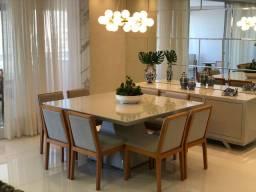 Mesa de jantar quadrada nova completa