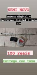 Antena conversor e cabo