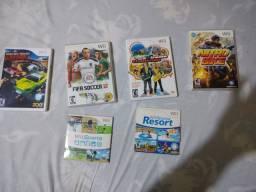 6 jogos originais de Nintendo Wii por 200 reais