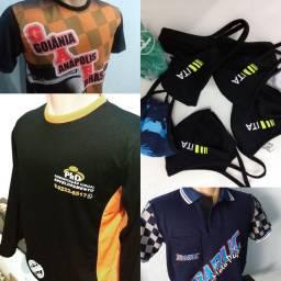 Camisetas e máscaras personalizadas