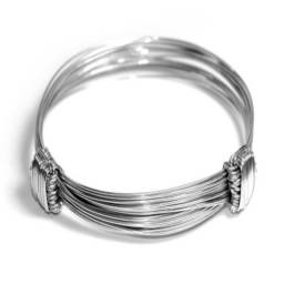 Pulseira rabo de elefante 3 fios em prata de lei 925