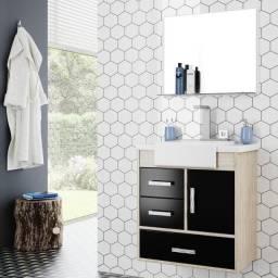Conjunto gabinete + cuba para banheiro Alhena we292