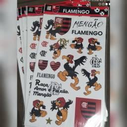Cartela de adesivo Flamengo