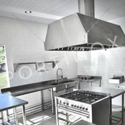 Cozinha industrial mesa / pia / estante / prateleira / coifa