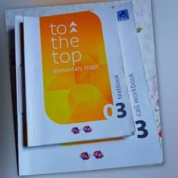 Livros to the top 3 e 5 de inglês CCAA,com caderno de exercícios.