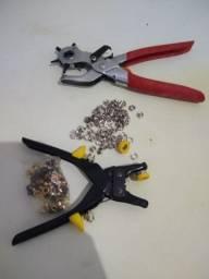 Dois Alicate Vazador Aplicar Ilhós Botão Metal