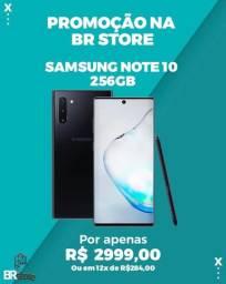Samsung Galaxy Note10 256 GB Aura black Lacrado a pronta entrega (Ac. Cartão)