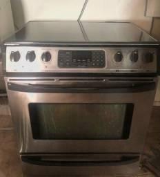 Fogão cooktop elétrico com forno inox promoção