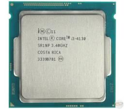 Processador gamer Intel Core i3-4130 de 2 núcleos e 3.4GHz com gráfica integrada lga 1150