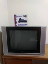 TV Tubo 20 polegadas Panasonic + Conversor + Controle