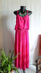 Conjunto Pink cropped + saia Tam M