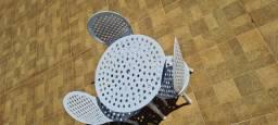 Conjunto mesa e cadeira infantil baby alumínio