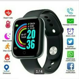 Smart watch Y68 D20 atualizado Fit pró últimas 4 cores