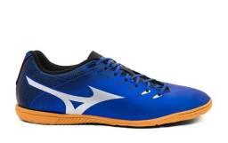 Chuteira Futsal Mizuno Genius In N Exclusiva - Azul e Prata