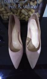 Sapato bico fino rosa claro Arezzo n38, ótimo estado!!