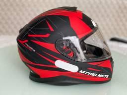 Capacete Mt Helmets Thunder 3 EFFECTV- Vermelho/preto fosco estado de novo