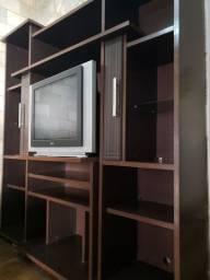 TV 29' tela plana com estante em tabaco