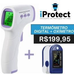 Kit sinais vitais - termômetro digital + oxímetro