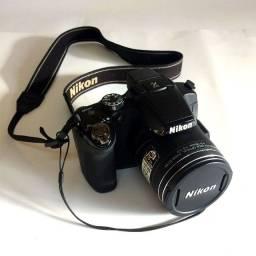 Câmera Digital Nikon P510 Full Hd Zoom 42x + Bolsa + Sd Card