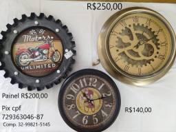 Kit 02 relógios e Painel