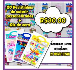 20 Kits de colorir! R$ 80,00