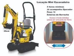 Locação de Mini Escavadeira para Joinville