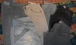 Vendo ou troco calças, tamanho 40, 42 e 44; calças de marca e bem conservadas