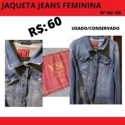Jaqueta Jeans com lycra