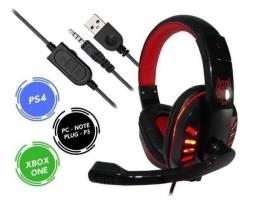 Headset Gamer PS3 PS4 Xbox One e PC (entrega grátis)