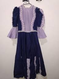 Vestido de prenda roxo