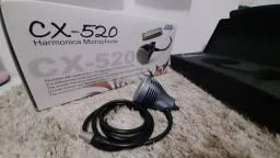 Microfone condensador para gaita e voz JTS CX-520 + adaptador MA-500
