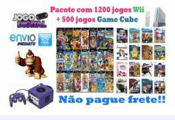 Pacote 1200 jogos Wii + 500 Roms Game Cube