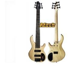 Baixo Cort 6 cordas Action Ash Open Pore c/ pré Mark bass